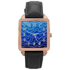 Polynoise Deep Layer Rose Gold Leather Watch  by jumpercat