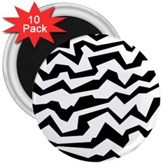 Polynoise Bw 3  Magnets (10 Pack)  by jumpercat