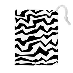 Polynoise Bw Drawstring Pouches (extra Large) by jumpercat