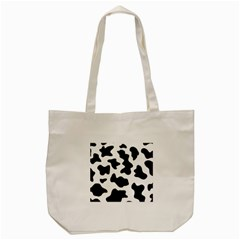 Animal Print Black And White Black Tote Bag (cream)