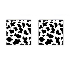 Animal Print Black And White Black Cufflinks (square) by BangZart