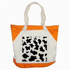 Animal Print Black And White Black Accent Tote Bag
