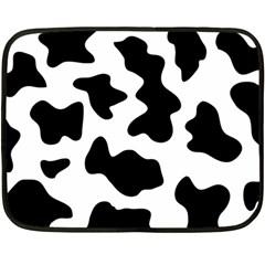 Animal Print Black And White Black Fleece Blanket (mini) by BangZart