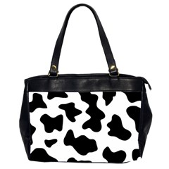 Animal Print Black And White Black Office Handbags (2 Sides)  by BangZart
