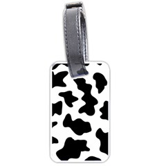 Animal Print Black And White Black Luggage Tags (two Sides)