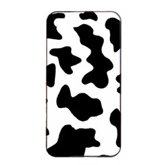 Animal Print Black And White Black Apple Iphone 4/4s Seamless Case (black)