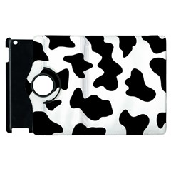 Animal Print Black And White Black Apple Ipad 3/4 Flip 360 Case