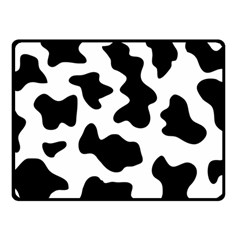 Animal Print Black And White Black Double Sided Fleece Blanket (small)  by BangZart