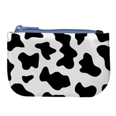 Animal Print Black And White Black Large Coin Purse