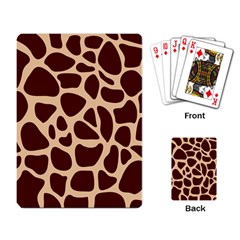 Animal Print Girraf Patterns Playing Card