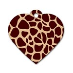 Animal Print Girraf Patterns Dog Tag Heart (One Side) Front