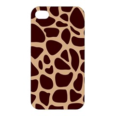 Animal Print Girraf Patterns Apple Iphone 4/4s Premium Hardshell Case