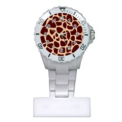 Animal Print Girraf Patterns Plastic Nurses Watch