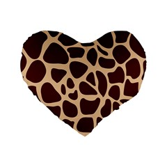 Animal Print Girraf Patterns Standard 16  Premium Flano Heart Shape Cushions