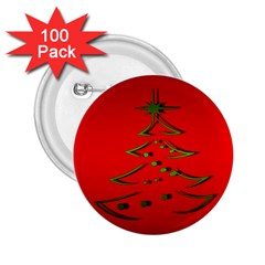 Christmas 2 25  Buttons (100 Pack)