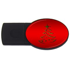 Christmas Usb Flash Drive Oval (4 Gb)