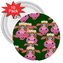 Seamless Tile Repeat Pattern 3  Buttons (10 Pack)