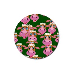 Seamless Tile Repeat Pattern Rubber Round Coaster (4 Pack)