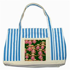 Seamless Tile Repeat Pattern Striped Blue Tote Bag