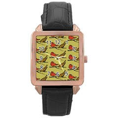 Animal Nature Wild Wildlife Rose Gold Leather Watch