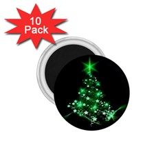 Christmas Tree Background 1 75  Magnets (10 Pack)  by BangZart