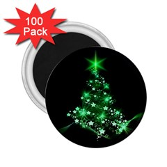 Christmas Tree Background 2 25  Magnets (100 Pack)