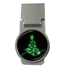 Christmas Tree Background Money Clips (round)  by BangZart