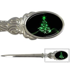 Christmas Tree Background Letter Openers