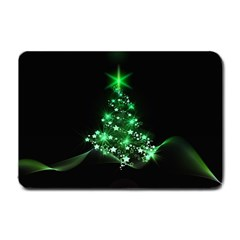 Christmas Tree Background Small Doormat