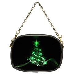 Christmas Tree Background Chain Purses (one Side)  by BangZart