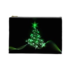 Christmas Tree Background Cosmetic Bag (large)