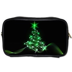 Christmas Tree Background Toiletries Bags 2 Side by BangZart