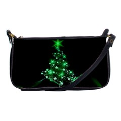 Christmas Tree Background Shoulder Clutch Bags
