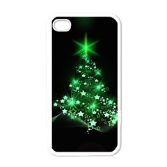 Christmas Tree Background Apple Iphone 4 Case (white) by BangZart