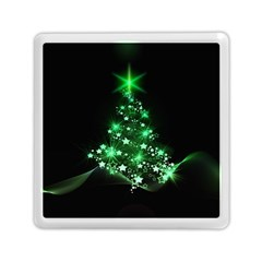 Christmas Tree Background Memory Card Reader (square)