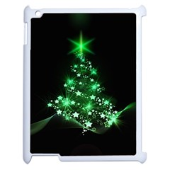 Christmas Tree Background Apple Ipad 2 Case (white) by BangZart