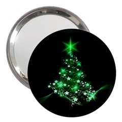 Christmas Tree Background 3  Handbag Mirrors