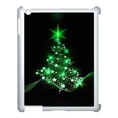 Christmas Tree Background Apple Ipad 3/4 Case (white)