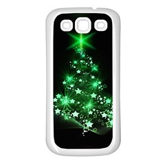 Christmas Tree Background Samsung Galaxy S3 Back Case (white)