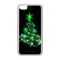 Christmas Tree Background Apple Iphone 5c Seamless Case (white) by BangZart