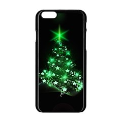 Christmas Tree Background Apple Iphone 6/6s Black Enamel Case by BangZart