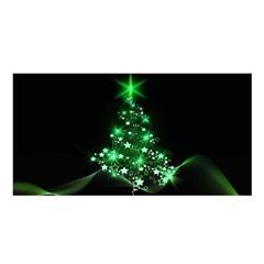 Christmas Tree Background Satin Shawl by BangZart