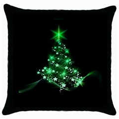 Christmas Tree Background Throw Pillow Case (black) by BangZart