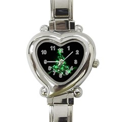 Christmas Tree Background Heart Italian Charm Watch by BangZart