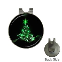 Christmas Tree Background Hat Clips With Golf Markers