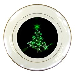 Christmas Tree Background Porcelain Plates