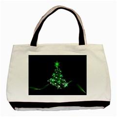 Christmas Tree Background Basic Tote Bag