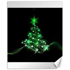 Christmas Tree Background Canvas 16  X 20
