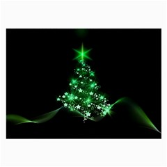 Christmas Tree Background Large Glasses Cloth (2 Side) by BangZart