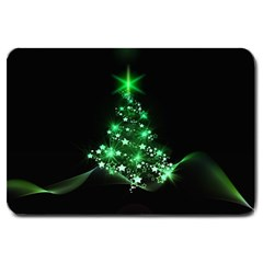Christmas Tree Background Large Doormat